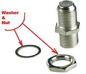 F splice Washer&Nut