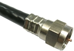 Connectors and adapters for coaxial cables
